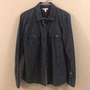 JCREW DENIM SHIRT - like new!